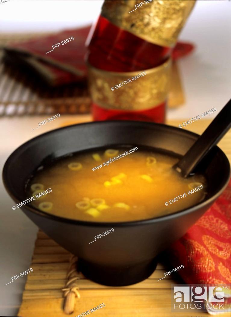 Stock Photo: Miso soup.