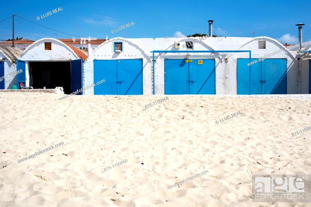 Stock Photo: Menorca, fishermans cottage, Punta Prima, Sant Lluis.