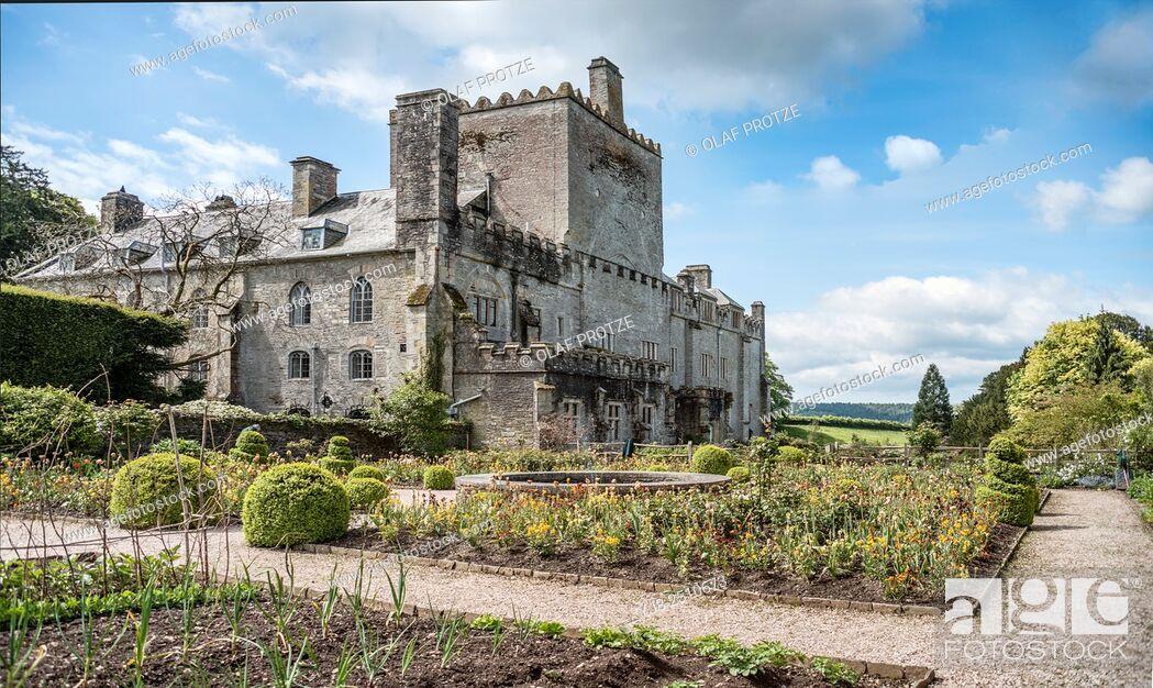 Stock Photo: Buckland Abbey and Gardens, a 700-year-old house in Buckland Monachorum, near Yelverton, Devon, England.