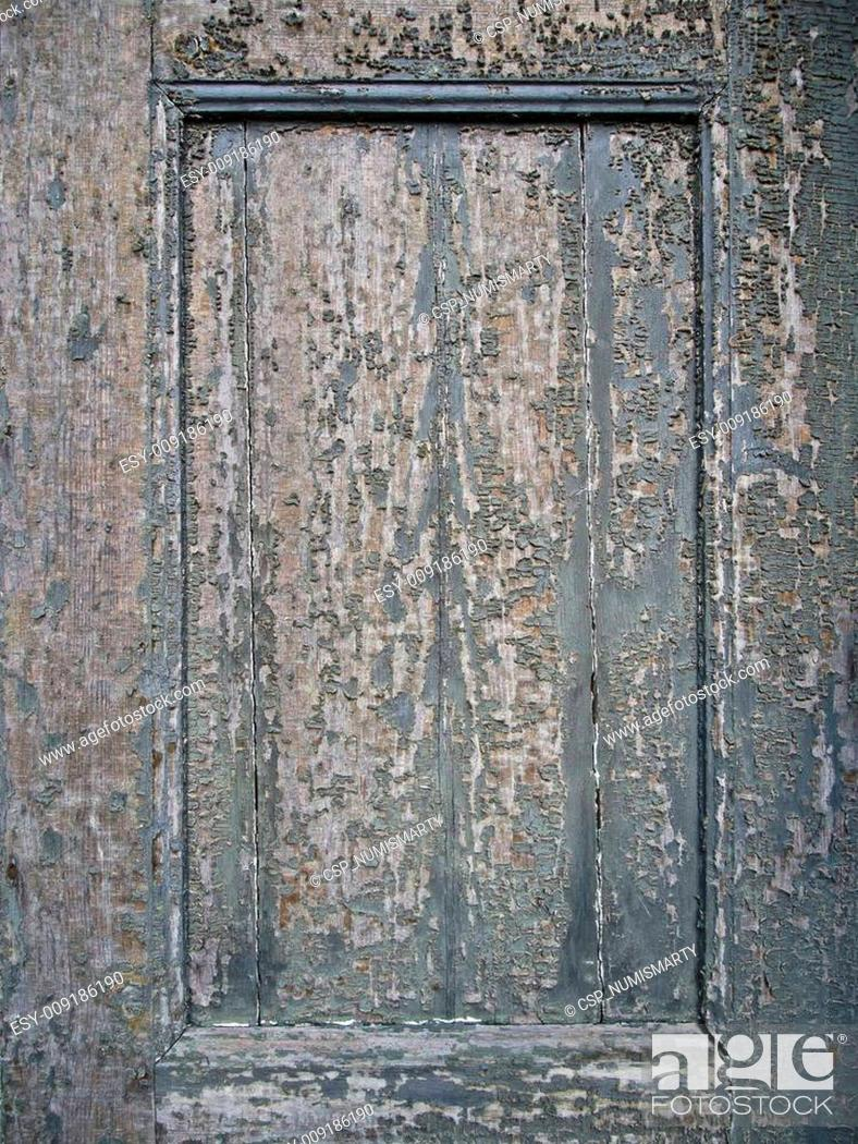 Stock Photo: old weathered wooden background with cracked lacquer.