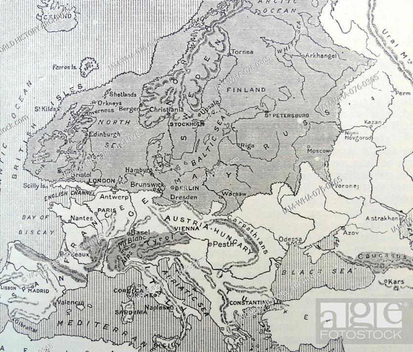 Map Of Europe During The Ice Age Stock Photo Picture And Rights