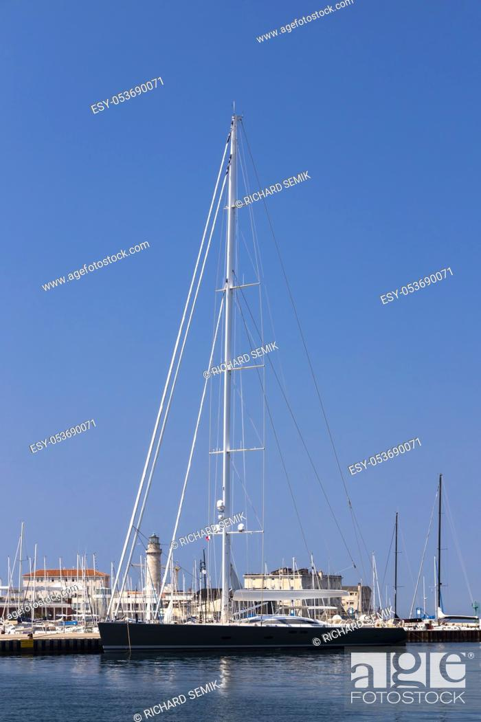 Stock Photo: Ship inTerst, North Italy.