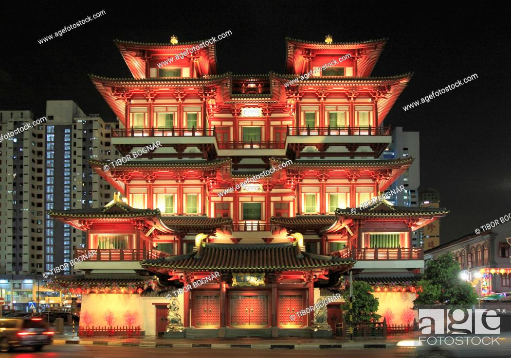 Imagen: Singapore, Chinatown, Buddha Tooth Relic Temple, .