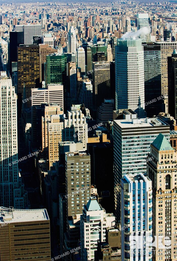 Stock Photo: view of Manhattan from The Empire State Building, New York City, USA.