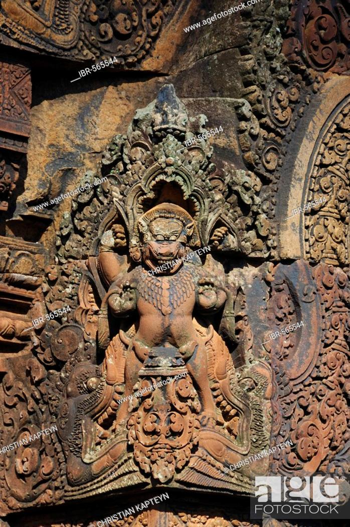 Stock Photo: Banteay Srei Temple, Angkor Wat, Siem Reap, Cambodia.