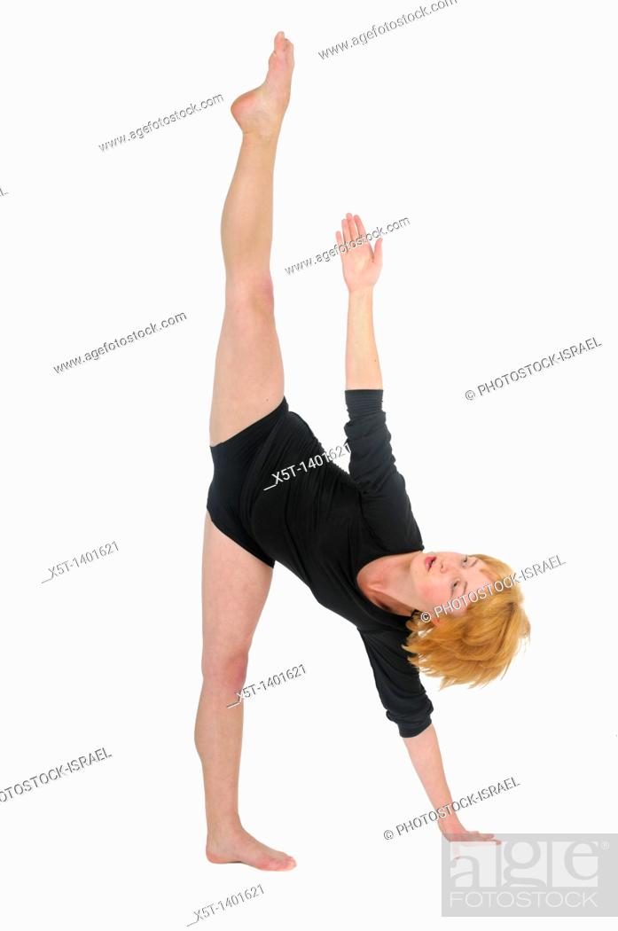 Stock Photo: Female Contemporary Dancer On white Background.