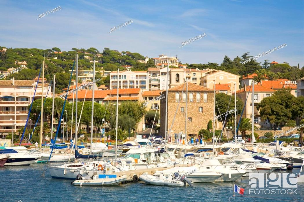 Stock Photo: Boats in the Sainte-Maxime marina, Département Var, at the Cote d'Azur, Provence, Southern France, France.