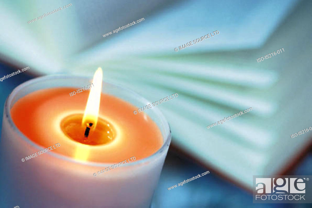 Stock Photo: Coloured candle.