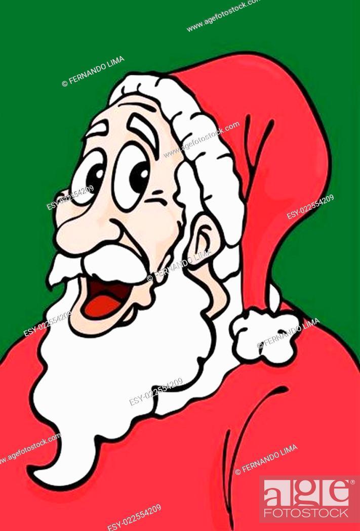 Stock Vector: Cheerful Santa Claus.