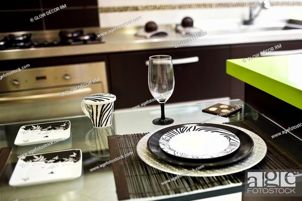 Photo de stock: Interiors of a kitchen.