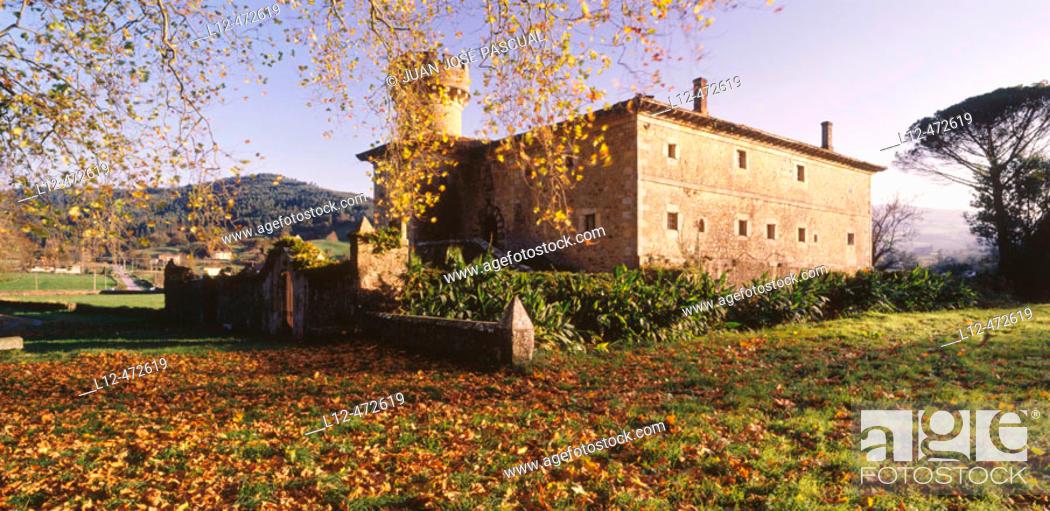 Stock Photo: Casa de los Villota, El Puente, Valle de Guriezo, Cantabria, Spain.