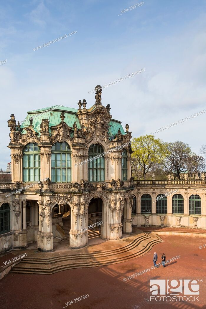 Stock Photo: The picturesque Zwinger (Dresdner Zwinger) in Dresden, Saxony, Germany, Europe.
