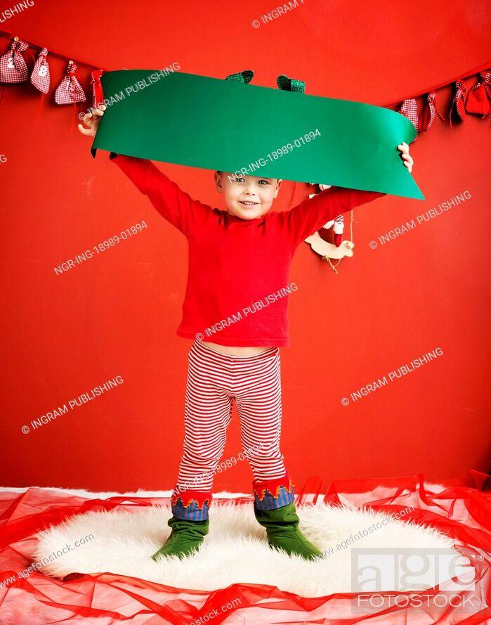 Stock Photo: Portrait of cute little fairy elf.