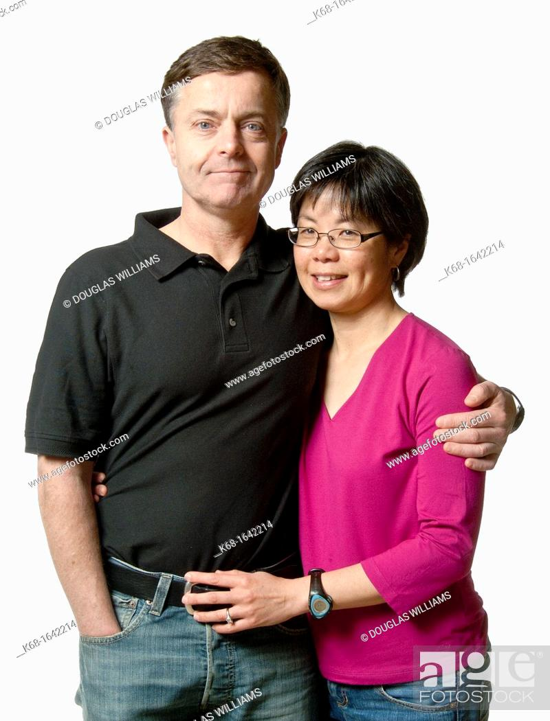 Stock Photo: A couple in the studio.
