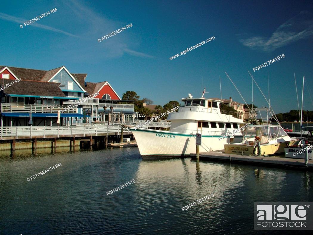 Stock Photo Hilton Head Island Sc South Carolina Sea Pines Beach Marina Village