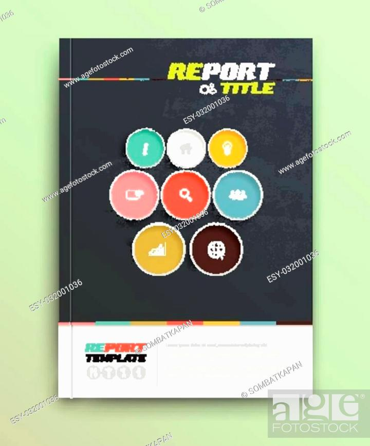 Stock Vector: Presentation of brochure cover design template., vector illustration. Magazine, flyer, and report cover layout design.
