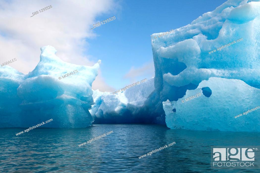 Stock Photo: Alaska , Fords Terror Wilderness Area near Juneau, , Tracy Arm , iceberg , Piece of ice.