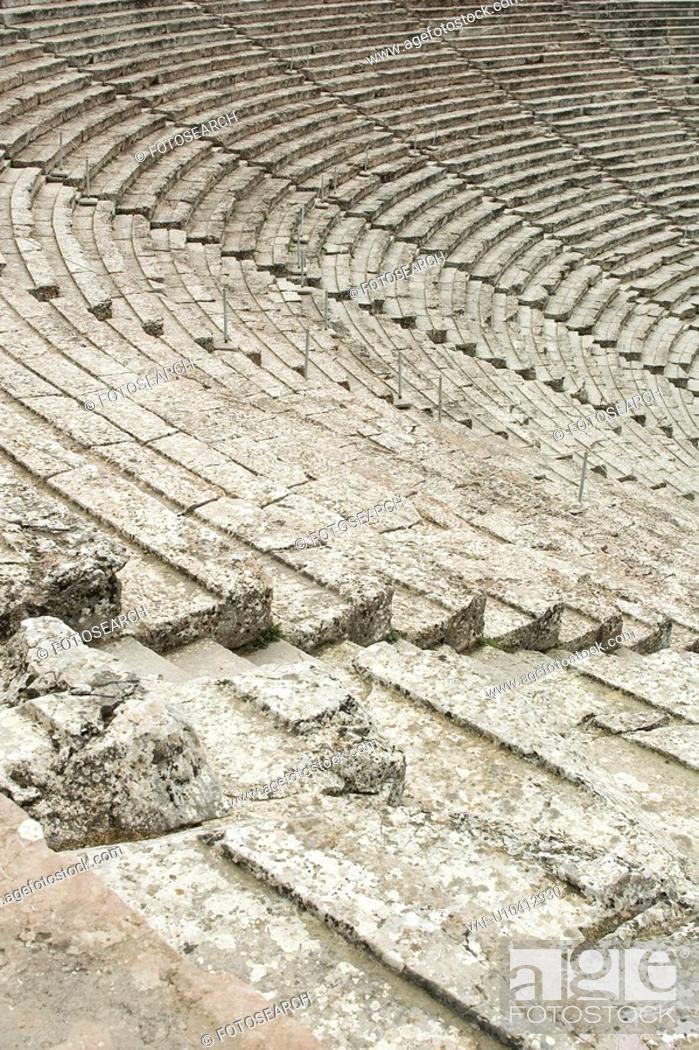Stock Photo: Descending, Steps, Ascending, Rows, Architecture, Amphitheatre.