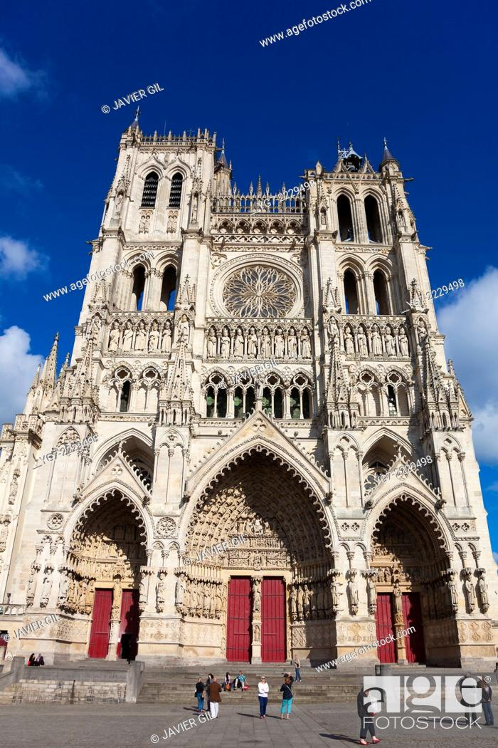 Stock Photo: Cathedral of Amiens, Picardy, France.