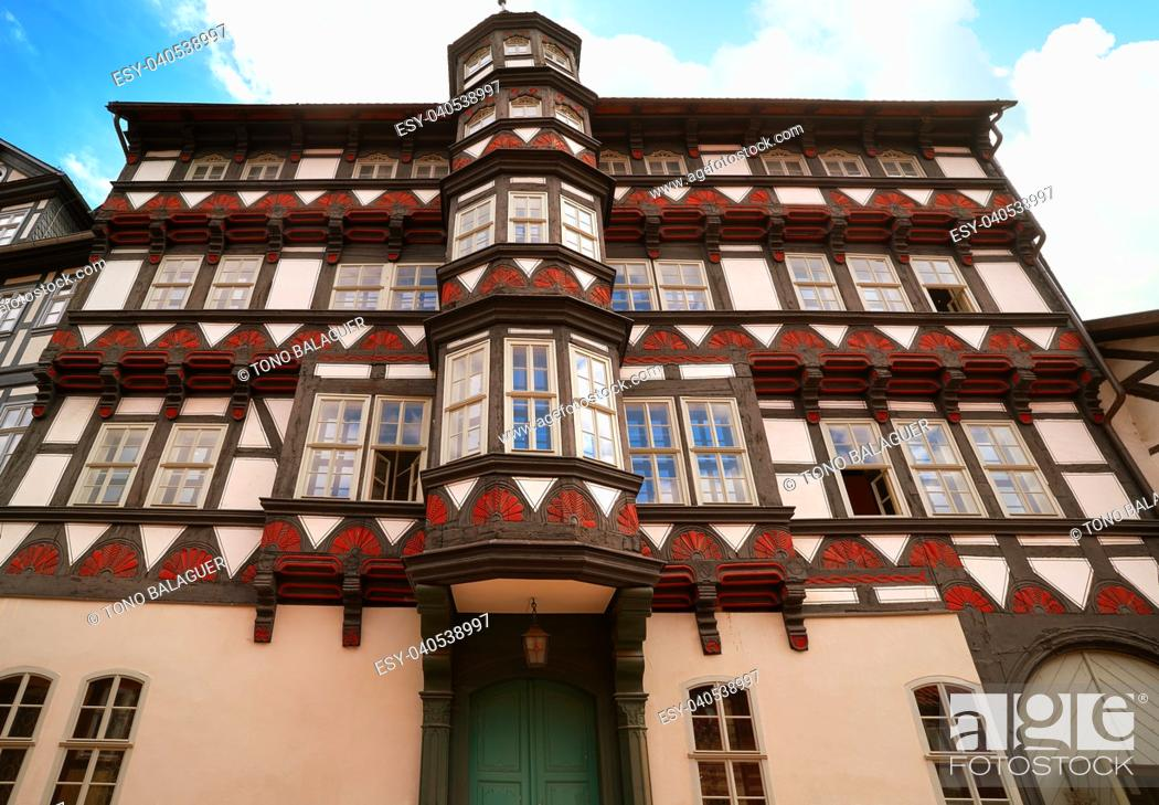 Imagen: Stolberg facades in Harz mountains of Germany.