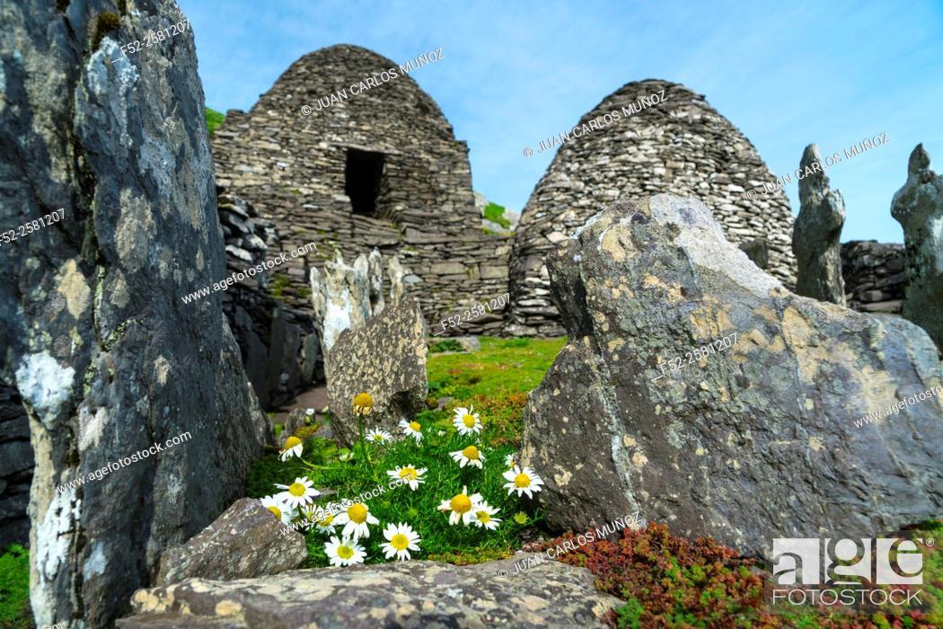 Stock Photo: Monastery, Skellig Michael, Skellig Islands World Heritage Site, County Kerry, Ireland, Europe.