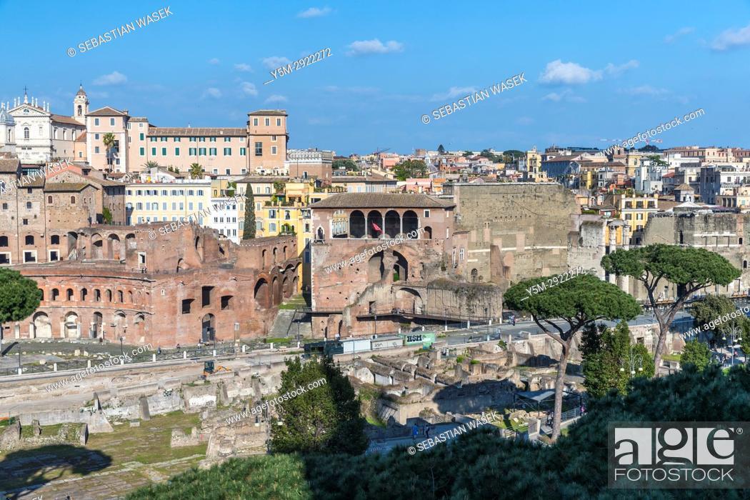 Stock Photo: Forum of Caesar, Rome, Lazio, Italy, Europe.