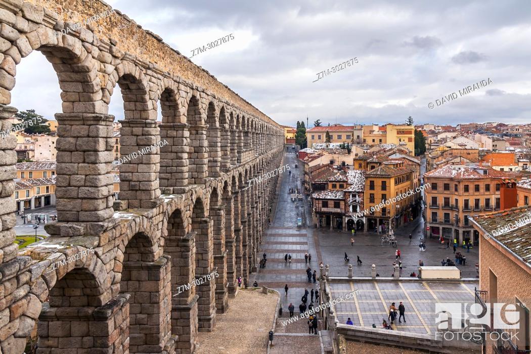 Imagen: Roman aqueduct, Segovia. Castile-Leon, Spain.