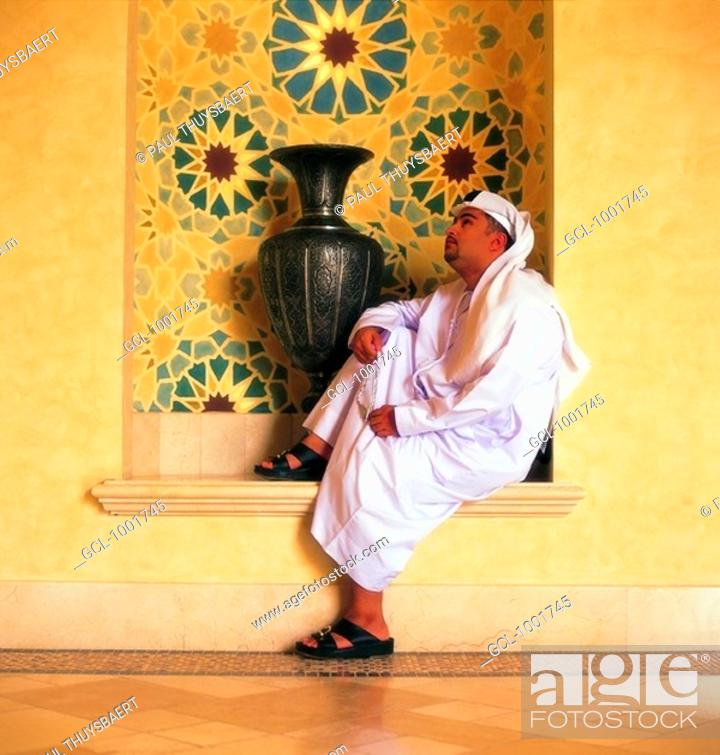Stock Photo: Pensive Arab man.