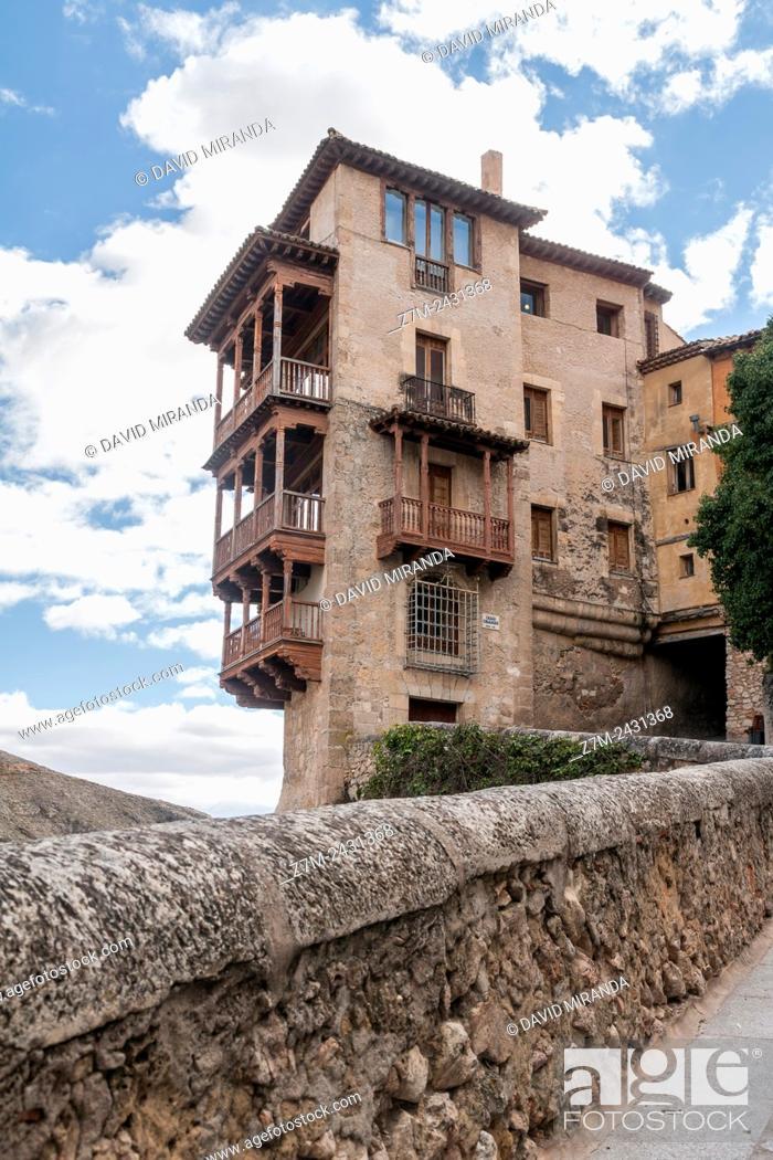 Stock Photo: Casas colgadas (Hanging Houses). City of Cuenca (UNESCO World Heritage Site), Castile-La Mancha, Spain.