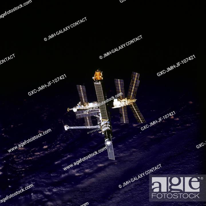 Following The Space Shuttle Atlantis Russian Mir Space Station