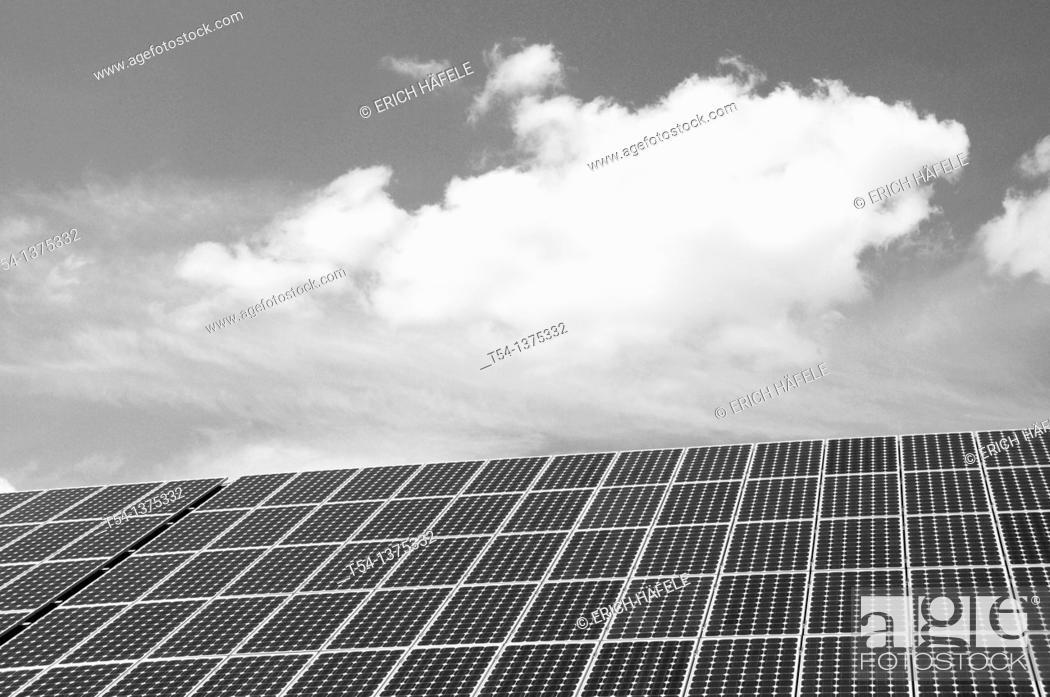 Stock Photo: Solar power plant.