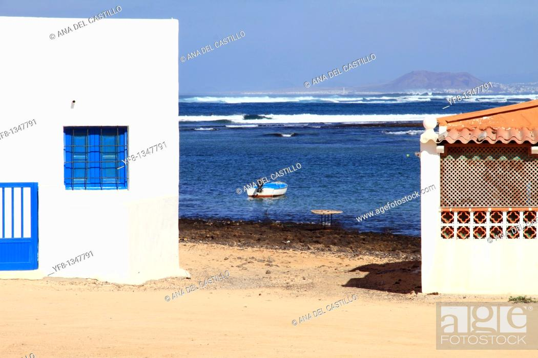 Stock Photo: Majanicho village in Fuerteventura Canary islands Spain.