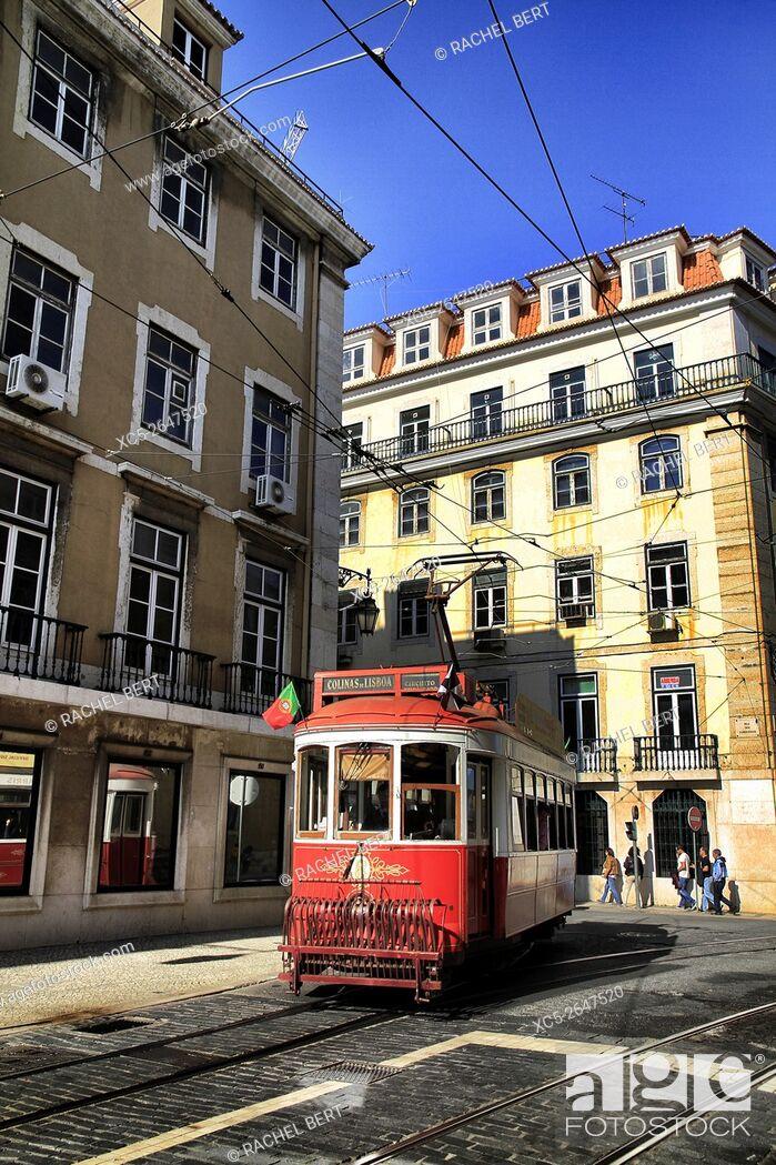 Stock Photo: Rua dos Franqueiros, Lisbon, Portugal.
