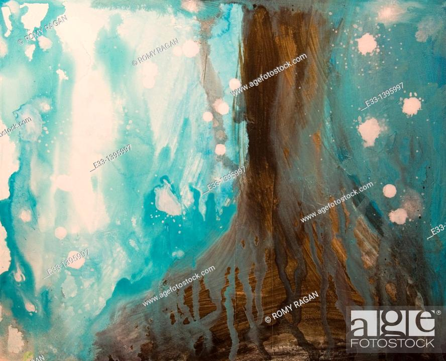 Imagen: Abstract landscape painting 'Forest Abstract'.