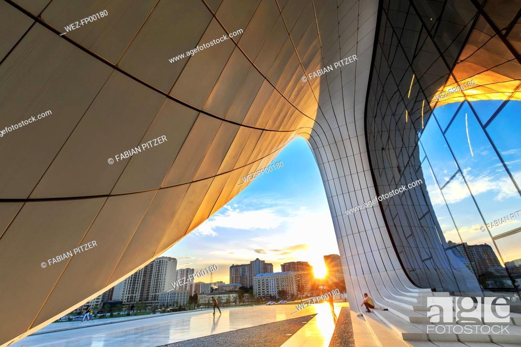 Stock Photo: Azerbaijan, Baku, Heydar Aliyev Center.