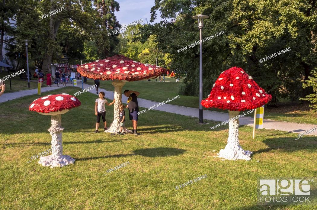 Stock Photo: Art Park Zagreb, Croatia.