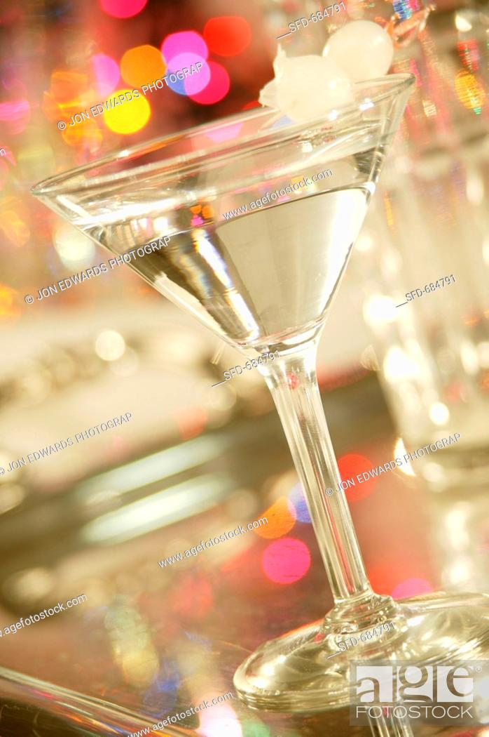 Gibson Martini, Stock Photo, Picture And Rights Managed