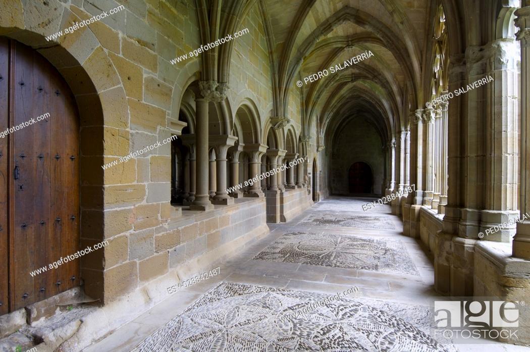 Stock Photo: Cistercian monastery of Oliva, Carcastillo, Navarra, Spain.