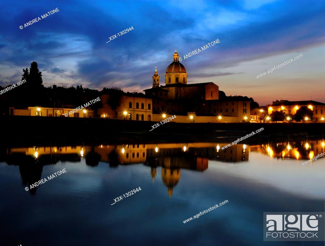 Stock Photo: Church of San Frediano in Cestello Florence Italy.
