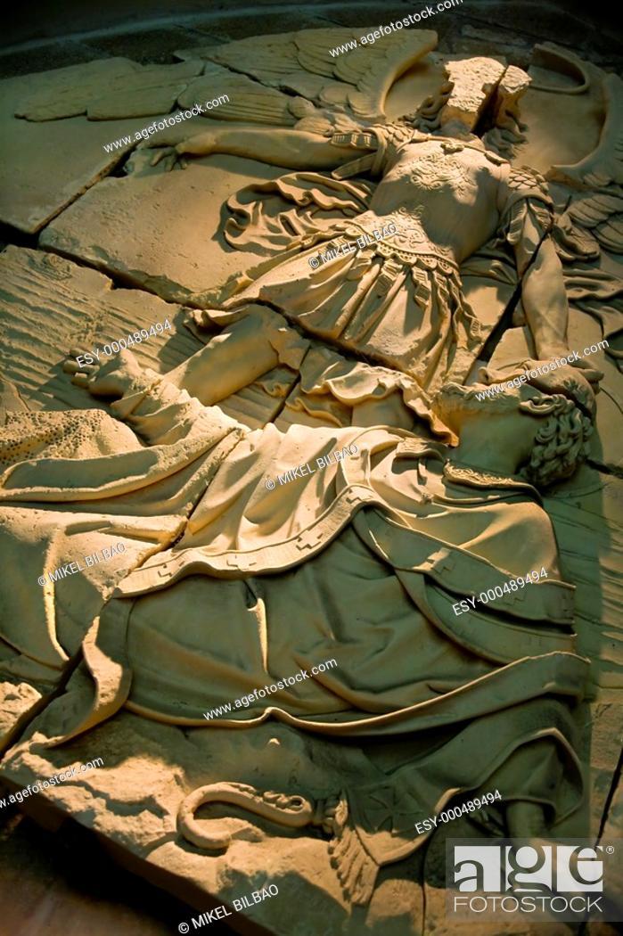 Stock Photo: artistic detail Mont Saint Michel, Normandy, France. Manche Department, Basse-Normandie region, Normandy, France, Europe.