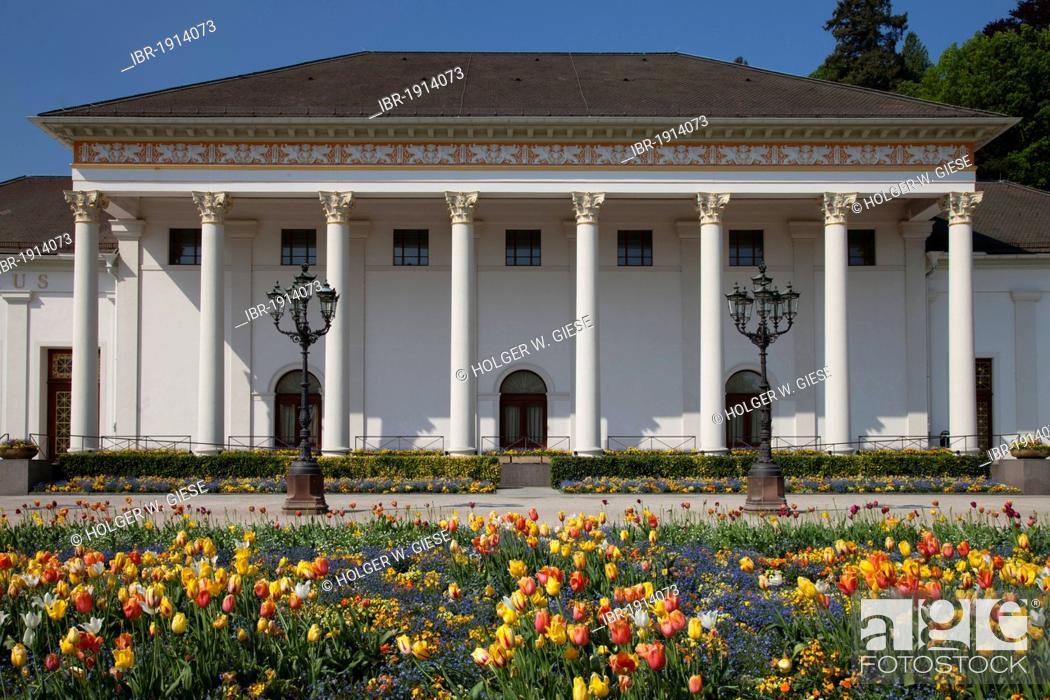 Stock Photo: Casino, Kurhaus spa resort, Kurpark spa gardens, Baden-Baden, Black Forest mountain range, Baden-Wuerttemberg, Germany, Europe.