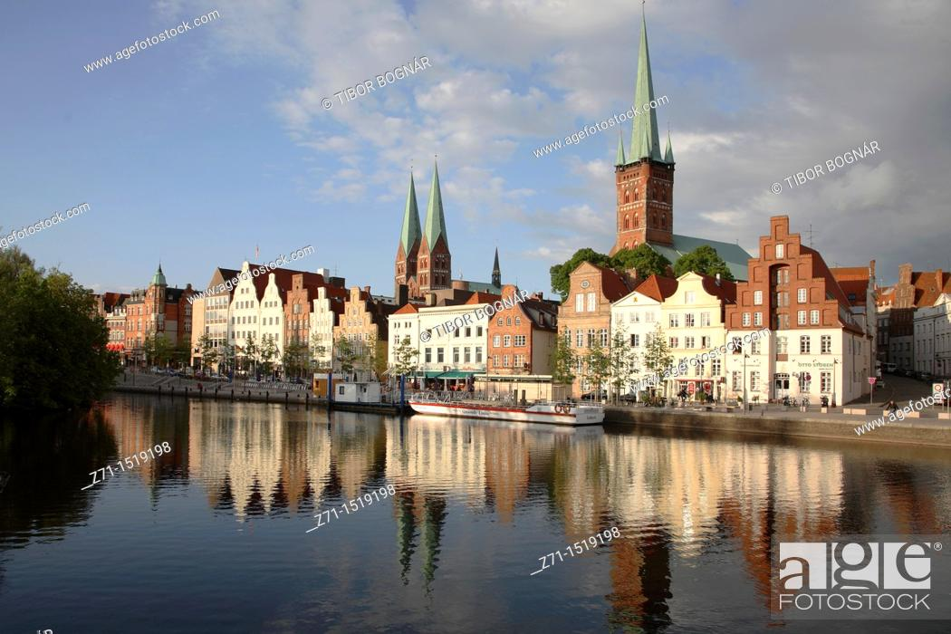 Stock Photo: Germany, Schleswig-Holstein, Lübeck, skyline, general panoramic view.