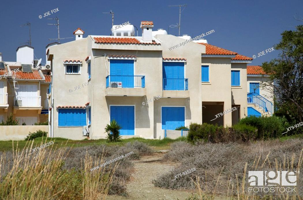 closed empty beachfront apartments and holiday homes larnaca