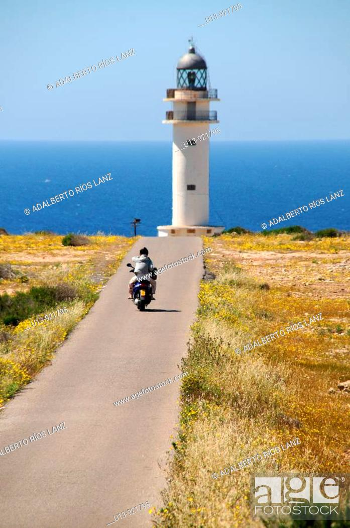 Stock Photo: Lighthouse, Formentera, Balearic Islands, Spain.