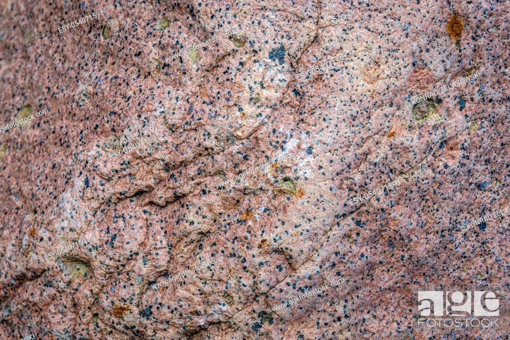 Stock Photo: Close up on a prick granite rock in Poland.