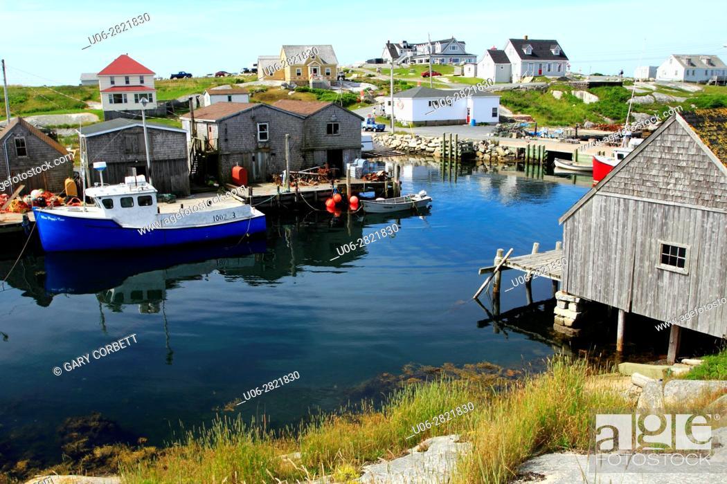Stock Photo: Peggy's Cove Nova Scotia Canada.