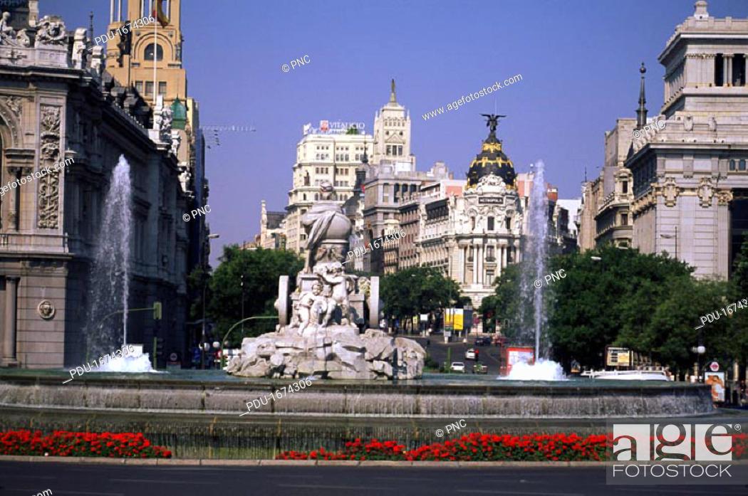Stock Photo: Calle de Alcala, Madrid.