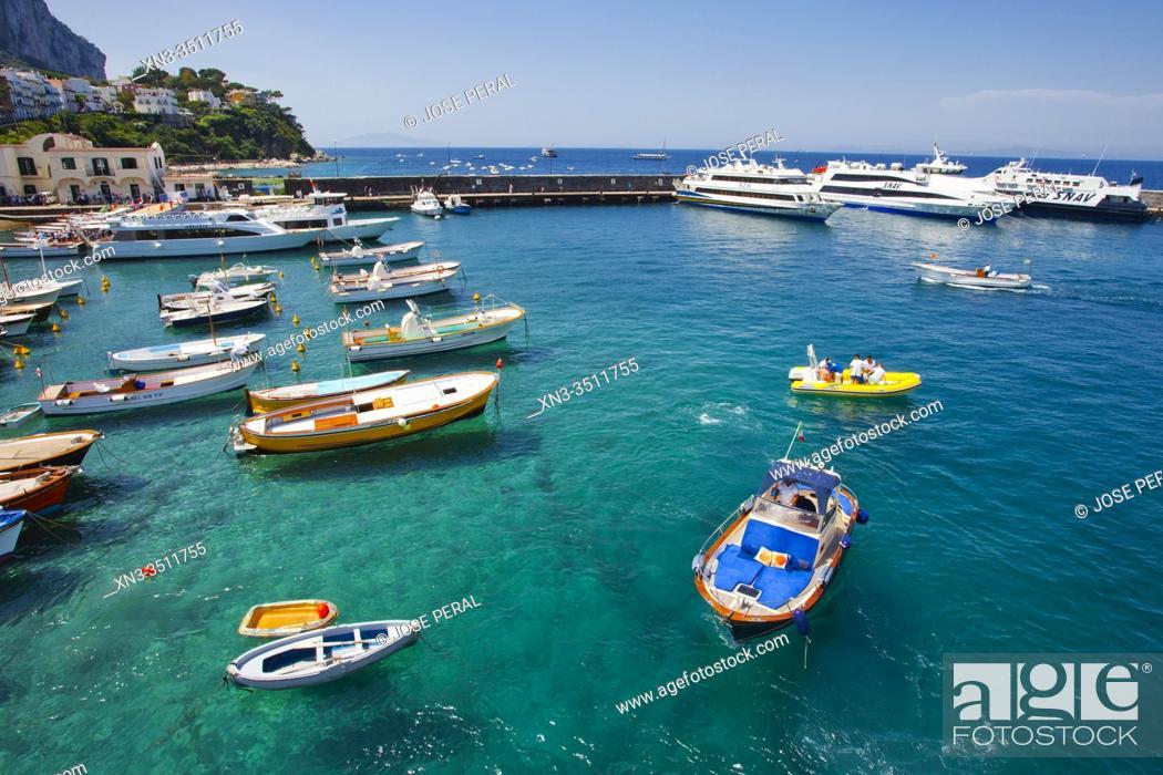 Imagen: Marina Grande, Capri Island, Campania region, Tyrrhenian Sea, Italy, Europe.