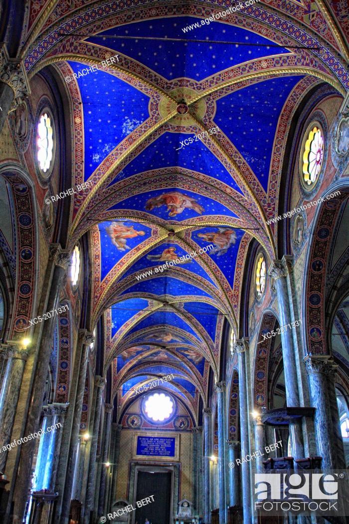 Stock Photo: Church interior Santa Maria Sopra Minerva Rome Italy.