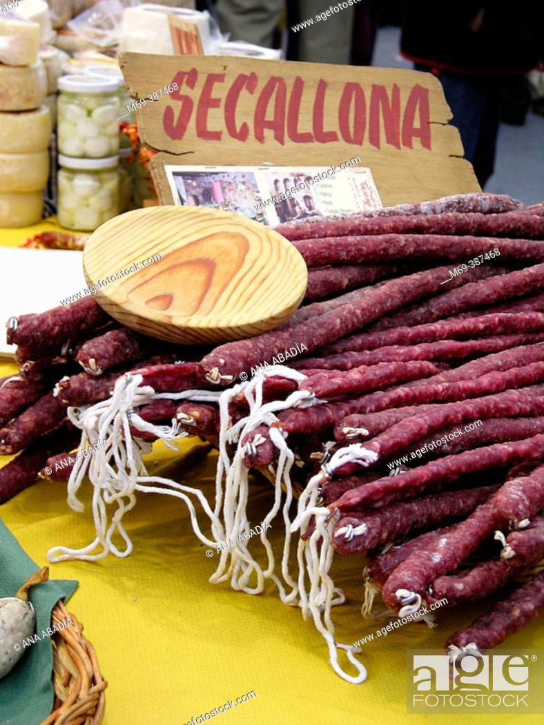 Stock Photo: 'Secallona' (type of sausage). Catalonia. Spain.